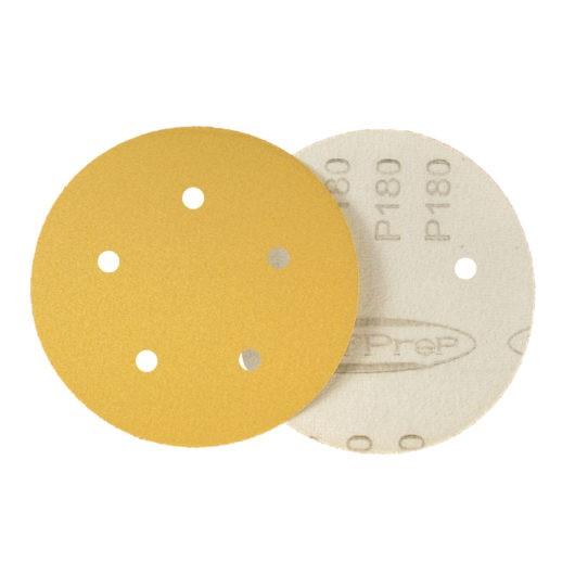 SurfPrep 5″ Paper Discs (Hook & Loop) with holes