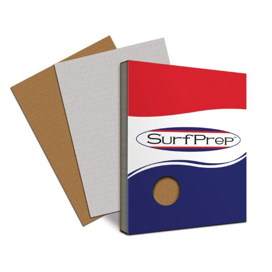SURFPREP 9″ X 11″ SANDPAPER SHEETS brown and gray
