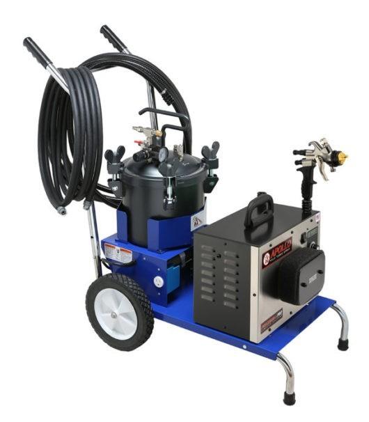 Apollo Precision-5 Pro LE Mobile Fluid Cart Complete HVLP System
