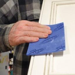 blue hand sanding pads