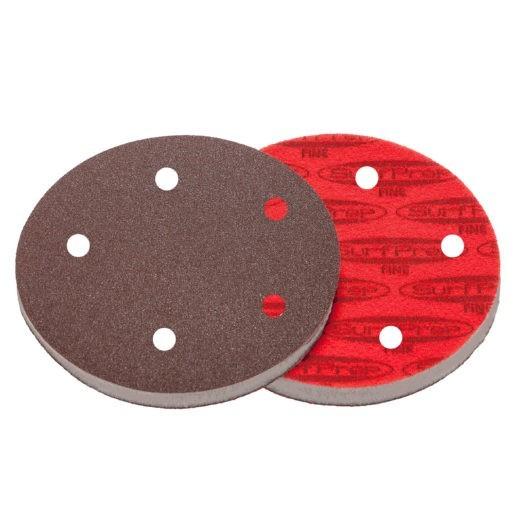 SurfPrep 5″ Foam Pads – 10MM Thick (Premium Red A/O)
