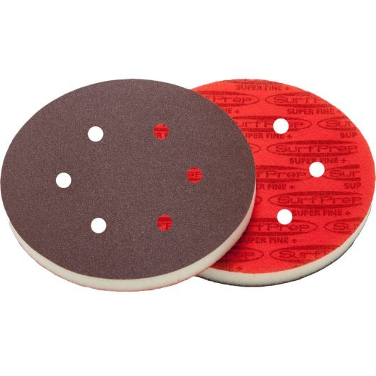 SurfPrep 6″ Foam Pads – 1/2″ Thick (Premium Red A/O)