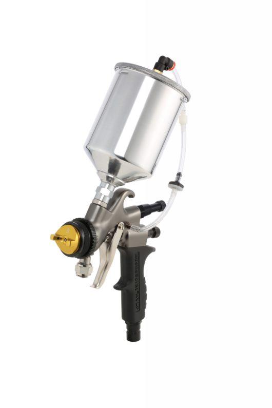HVLP Spray Gun with Quart Cup on Top